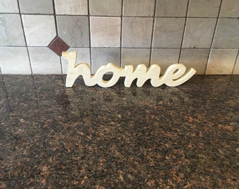 Wooden Home cut out sign for home decor