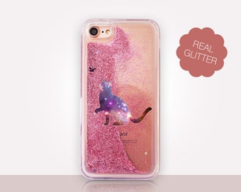 Cat Glitter Phone Case Clear Case For iPhone 8 iPhone 8 Plus - iPhone X - iPhone 7 Plus - iPhone 6 - iPhone 6S - iPhone SE  iPhone 5