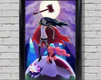 Bubbline's Adventure Time! - Marceline and Princess Bubblegum Print