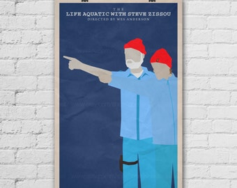 The Life Aquatic with Steve Zissou Poster. Wes Anderson Poster. Movie Art Print. Pop Culture and Modern Home Decor Poster. Item No. 285