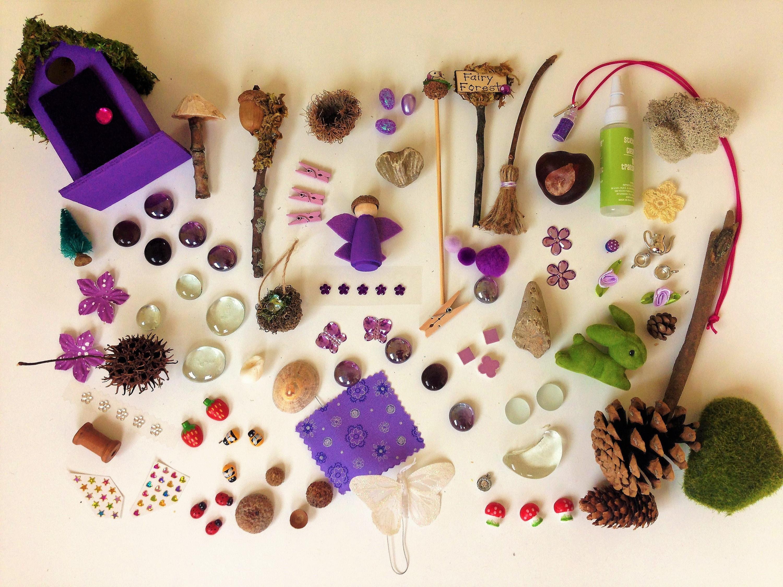Garden house kit - Fairy Garden Accessories Fairy Garden Miniatures Fairy Garden Kit Purple Fairy House Fairy Garden House Kit Handmade Miniatures
