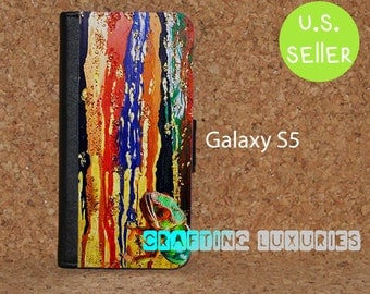 Chameleon Galaxy S5 Wallet Case, Colorful Design Galaxy S5 Flip Case, Book Style Case. Free Shipping in the US.