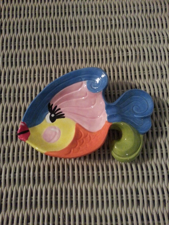 Whimsical Ceramic Fish Dish / Soap / Spoonrest / Ringholder
