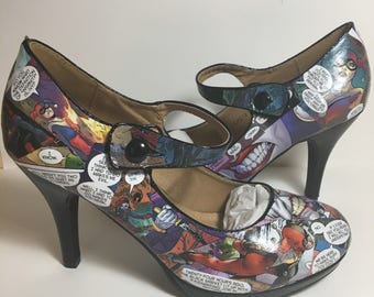 Mary Jane Comic Book Shoes