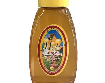 Wildflower Honey Pure Natural Raw Honey HERSHEY'S HONEY 100% 1 lbs.