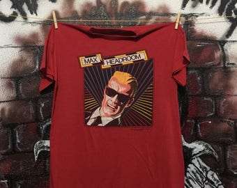 Vintage 80s Max Headroom Tv Series Tshirt