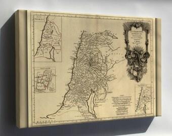 Canvas 24x36; 1783 Map Of Jerusalem Palestine Holy Land Israel