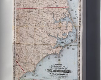 Canvas 24x36; Map Of Eastern Portion Of North Carolina 1864