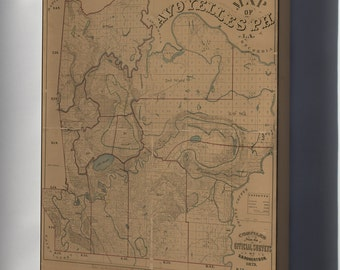 Canvas 24x36; Map Of Avoyelles Parish, Louisiana 1879