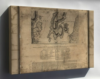 Canvas 24x36; Map Of Benedict Arnold On Lake Champlain 1776 P2