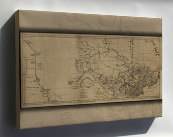 Canvas 24x36; Map Of Canada Michigan & New England 1762 P2