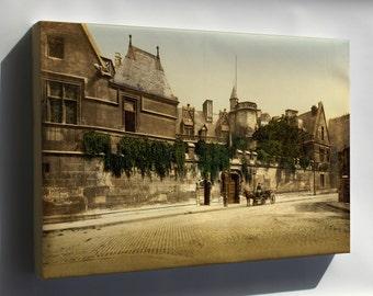 Canvas 24x36; Hotel De Cluny Musee National Du Moyen Age , Paris, France, 1890S