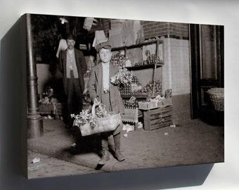 Canvas 16x24; Gus Strateges, 11Yo Celery Vendor Central Market