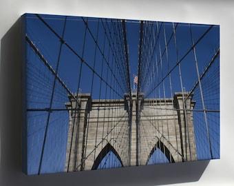 Canvas 16x24; Brooklyn Bridge Detail