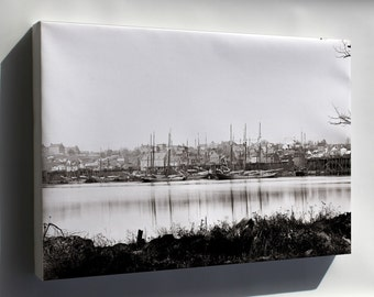 Canvas 16x24; Georgetown Waterfront In 1865