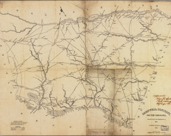 16x24 Poster; Map Of Barnwell District, South Carolina 1825