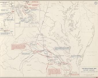 16x24 Poster; Map Of Revolutionary War Virginia, 1778-1781