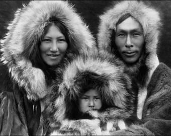16x24 Poster; Inuit Eskimo Family From Noatak, Alaska 1929