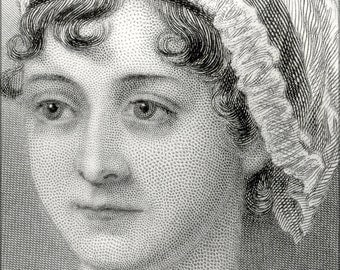 16x24 Poster; Jane Austen 1870 Cropped