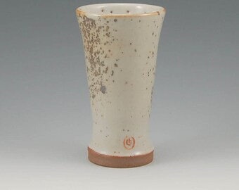 Stoneware Tumbler 4 oz , Shino with Wood Ash, Champagne Flutes, Wine Glasses, Juice Cups, Whisky Cups, Pottery Tumblers
