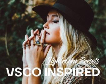 VSCO Inspired Lightroom Presets - Vsco Filter, Vsco Lightroom, Moody presets, Portrait presets, Film presets, Kodak presets, Fuji Presets