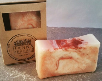 Red Clay Salt Bar - Facial Soap - All Natural Organic Soap - Shea Butter Soap, 4 to 5 ounce bars