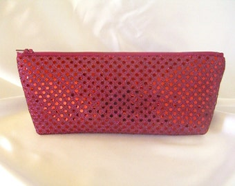 Burgundy Sequin Clutch - Burgundy Sequin Bag - Bridesmaid Sequin Clutch - Holiday Clutch - Special Occasion - Winter Formal Clutch