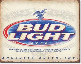 """Tin Sign """" #S2184 Bud Light Budweiser Anheuser Busch """" Advertisement 16""""x12"""""""