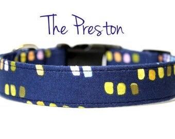 Navy Blue Dog Collars, Blue Dog Collars, Boy Dog Collars, Navy Blue Collars, Summer Dog Collars, Dog Collars, Navy Blue Dog Collars