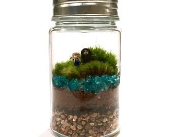 Moss Terrarium // Mini Khalessi & Jon Snow
