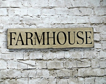 Rustic, Hand-painted, Distressed Barnwood Farmhouse Sign
