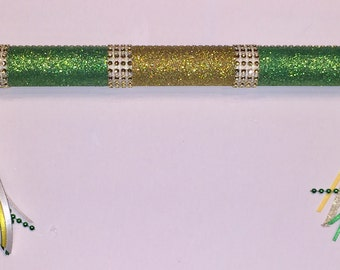 Cheerleading Spirit Stick - Cheer Stick - Spirit Stick *Gold 'n Green*