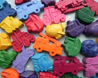 Transport themed Party Favours | Kids Party Bag | Novelty Crayons | Vehicle Party Favours | Party Supplies | Kids Craft | Doodleland Crayons
