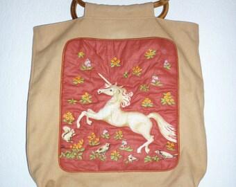 Padded unicorn bag   Unique 70's design