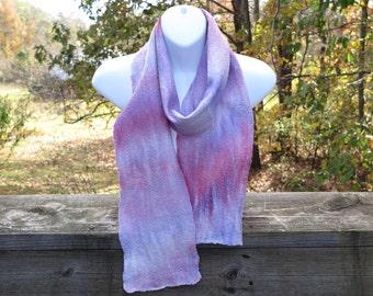 Hand Felted Merino Wool/Silk/Bamboo Women's  Winter Scarf