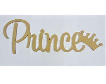 Kids Prince Letters Wall Hanging Wooden Name Sign