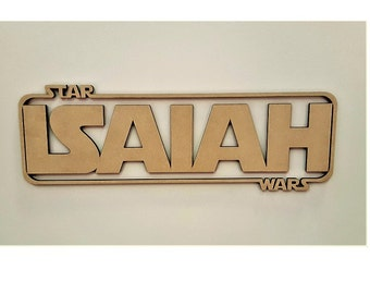 Star Wars Themed Kids Custom Letters Wall Hanging Wooden Sign