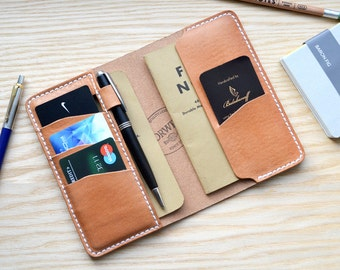 Horween Leather Notes Field Cover in Essex Natural | Wallet Journal Notebook Passport Vanguard Cahier sleeve