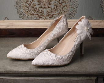 Wedding shoes lace wedding shoes bridal lace wedding shoes wrapped heel pointed toe