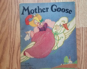 Vintage 1934 Large Mother Goose Book