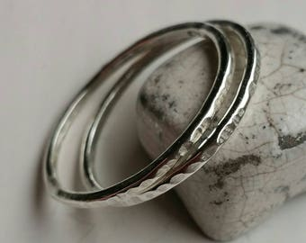 Silver Stacking Ring in various sizes and widths- you choose! Postage Included