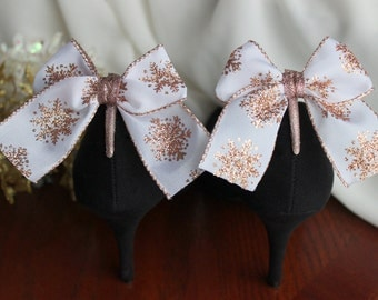 Adorable Rose-Gold Snowflake Boot Clip