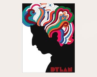 Bob Dylan Poster 1966 - Music Poster Bob Dylan Print Home Decor Vintage Poster Gift Idea Bob Dylan Art   bpt