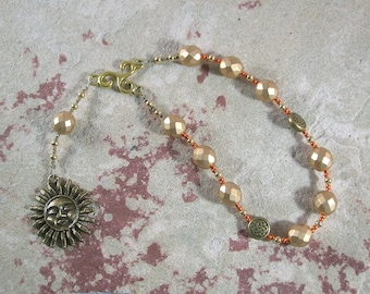 Belenos (Belenus) Pocket Prayer Beads: Gaulish Celtic God of the Sun