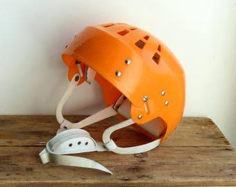 Vintage Hockey Helmet Salvo USSR CCCP Soviet retro Hockey equipment / Ice hockey / Sports Bar Decor Sports Restaurant