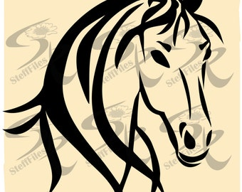 0389_Vector HORSE HEAD,SVG,dxf,ai, png, eps, jpg,Download files, Digital, graphical