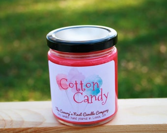 Cotton candy candle | Etsy