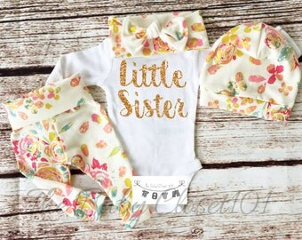 Newborn Girl Coming Home Outfit,Girls Coming Home Outfit Set,Baby Girl,Hospital Outfit,Hospital Outfit,Floral Baby Outfits,Flowers,Floral