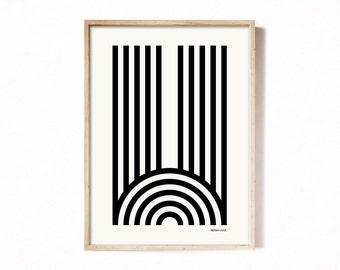 Letter W - modern typography alphabet print.