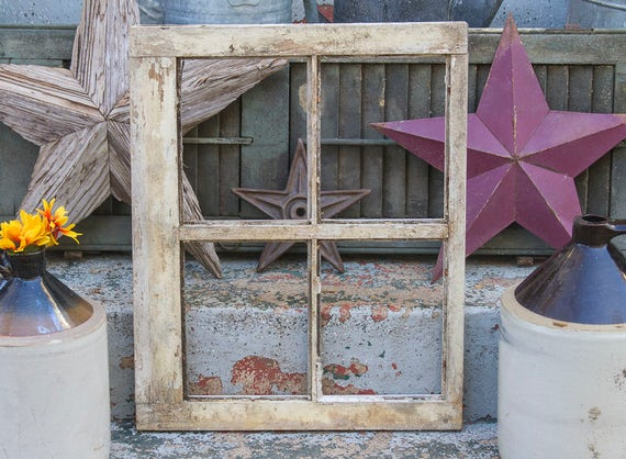 Basket Weaving Lancaster Pa : Antique four pane window frame reclaimed from historic